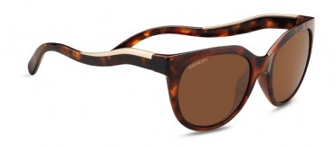 8573 Lia Shiny Red Moss Tortoise Satin Champagne Gold Polarized Drivers